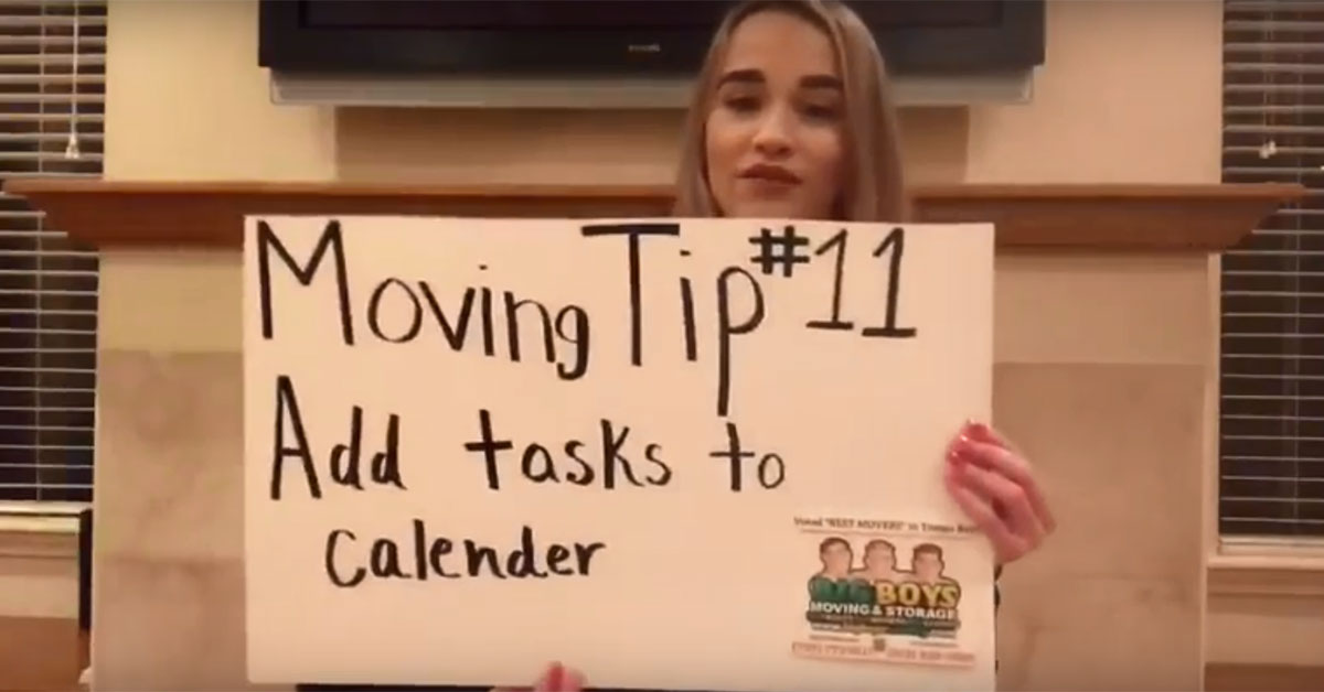 (Video) Moving Tip of the Day #11