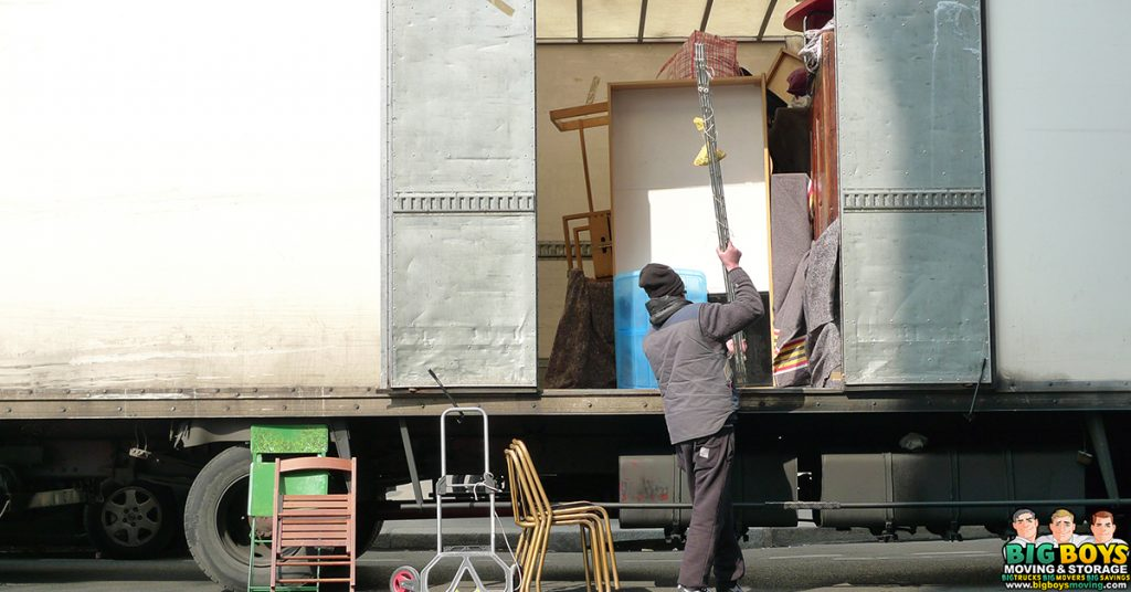 rental truck unloading