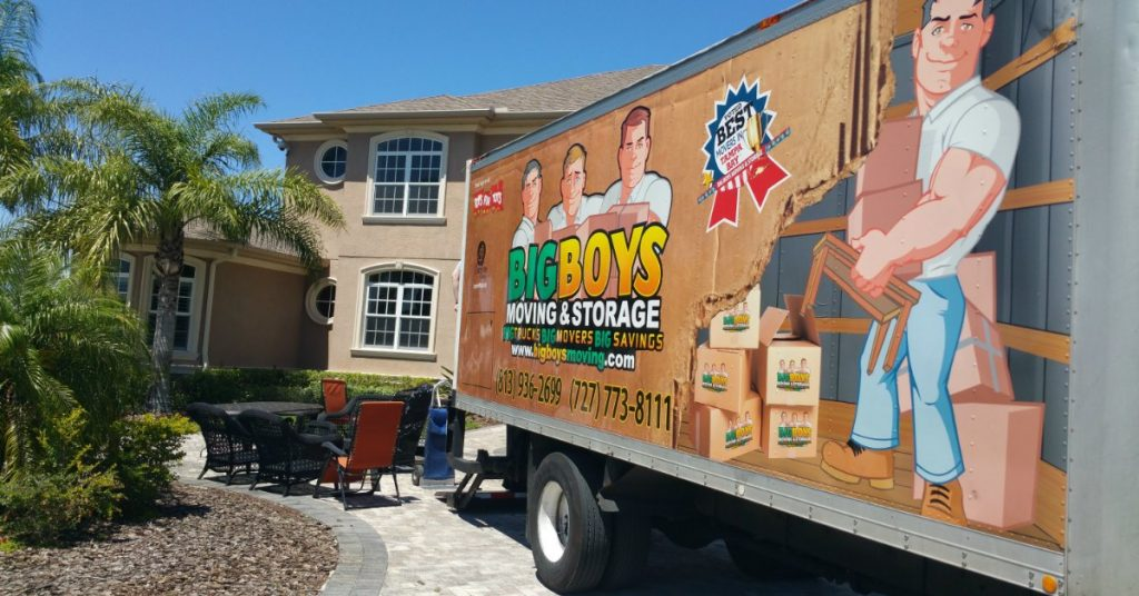moving services with truck
