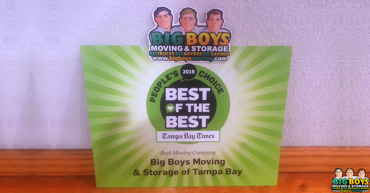 Best Florida Movers: Big Boys Moving Wins Best of the Best Movers 2019